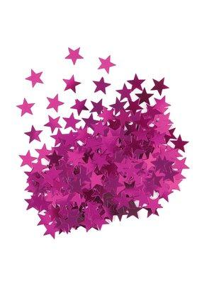 ***Metallic Hot Pink Stars Confetti .5oz Bag