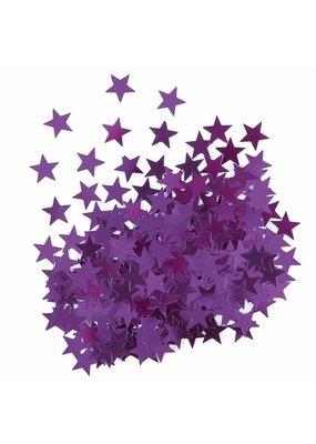 ***Metallic Purple Stars Confetti .5oz Bag