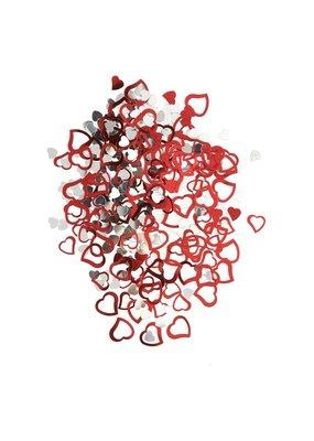 ***Red & Silver Heart Confetti .5oz Bag