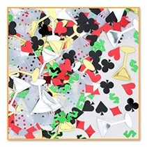 ***Casino Night Confetti .5oz Bag
