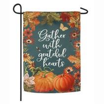 ***Fall Garden Gather Garden Suede Flag