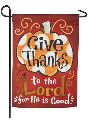 ***Give Thanks to the Lord Garden Suede Flag