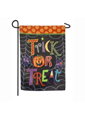***Trick-or-Treat Garden Suede Flag