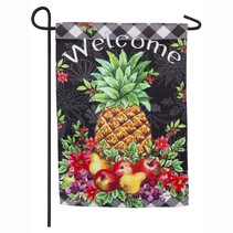 ***Christmas Pineapple Garden Suede Flag