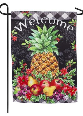 ***Christmas Pineapple Garden Suede Flag