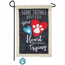 ***Love Fills Your Heart Without Trying Garden Applique Flag