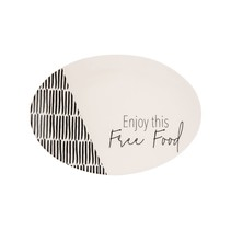 "***Free Food Ceramic Platter 14.5"""