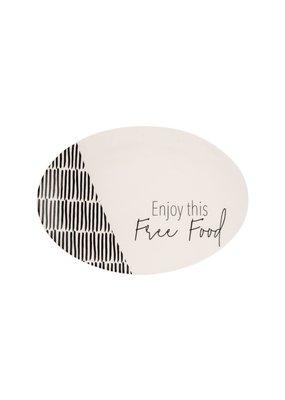 "EverEllis ***Free Food Ceramic Platter 14.5"""