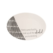 ***Soak Up all the Alcohol Ceramic Platter 14.5""