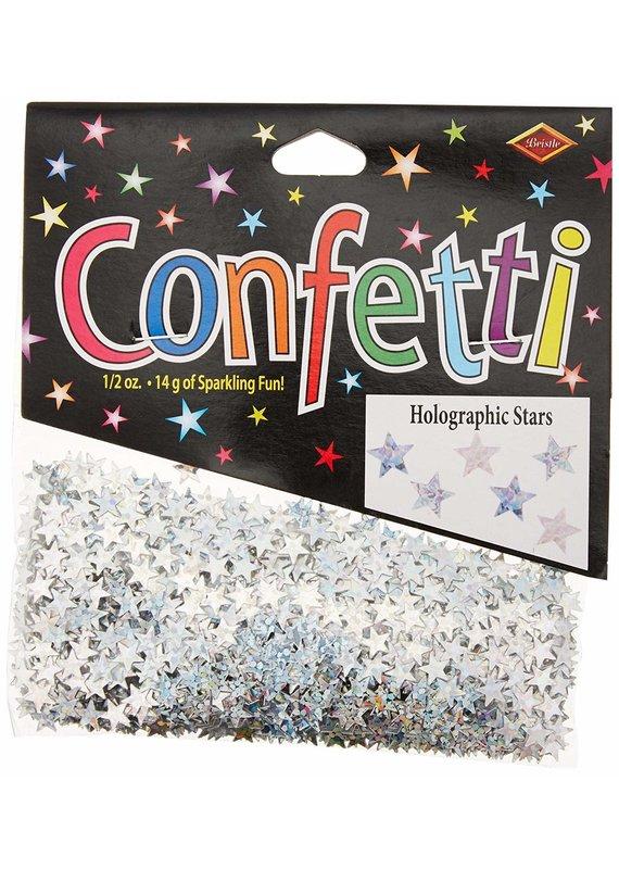 *****Silver Holographic Stars Confetti .5oz Bag