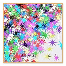 ***Multi-Color Starbursts Confetti .5oz Bag