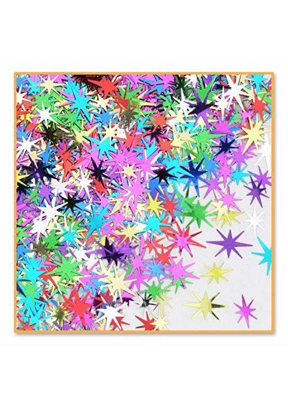 ****Multi-Color Starbursts Confetti .5oz Bag