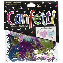 ***Jesus Loves You Confetti .5oz Bag