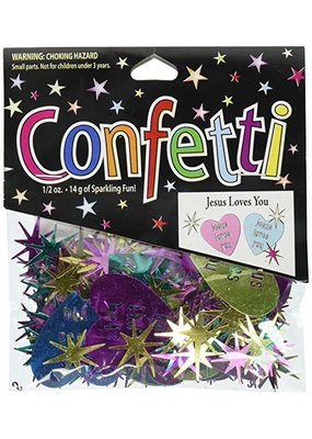 ***Jesus Loves You Confetti .5oz Bag
