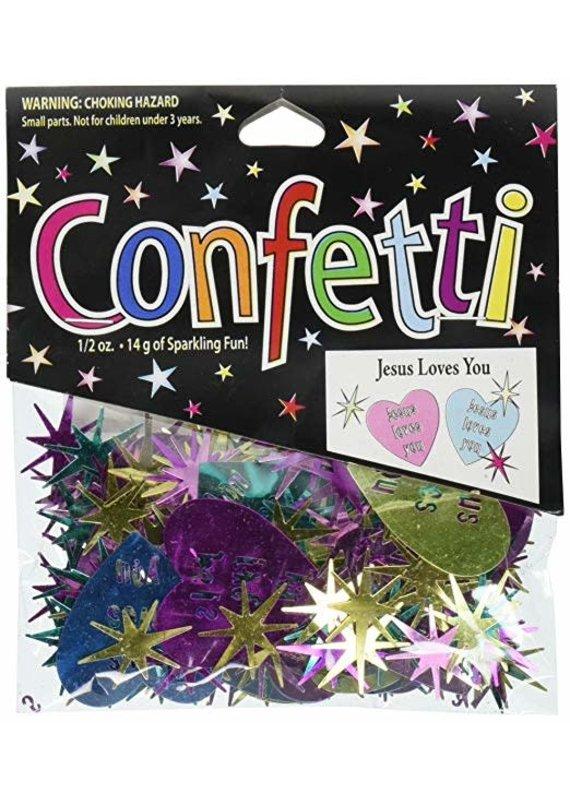 ****Jesus Loves You Confetti .5oz Bag
