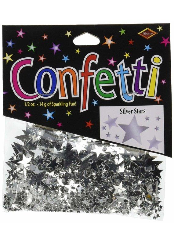 *****Silver Stars Confetti .5oz Bag