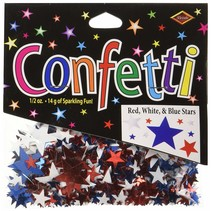 ***Red White Blue Star Confetti .5oz Bag