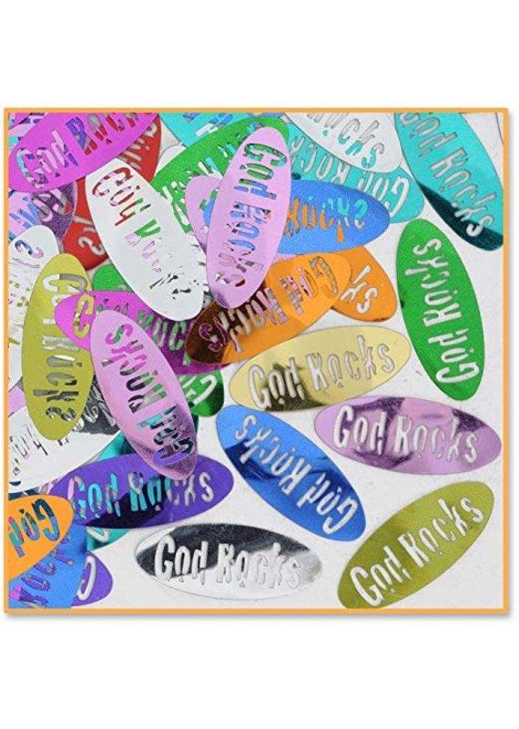 ****God Rocks Confetti .5oz Bag