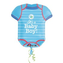 ***It's a Boy Onesie Shape Jumbo Mylar Balloon