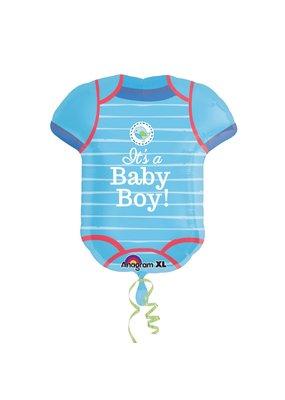***It's a Boy Onesie Shape Jumbo Mylar Balloon