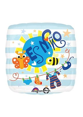 "***Es Nino It's a Boy Square 18"" Mylar Balloon"
