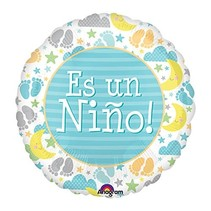 "***Es Un Nino It's Boy 18"" Mylar Balloon"