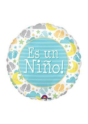 """***Es Un Nino It's Boy 18"""" Mylar Balloon"""
