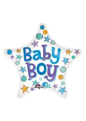 ***Baby Boy Star Shape Mylar Balloon