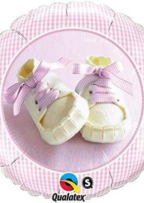 "***Baby Girl Shoes 18"" Mylar Balloon"