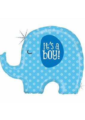 """***It's a Boy Elephant 32"""" Mylar Balloon"""