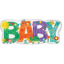 "***Baby Banner Icon 33"" Mylar Balloon"