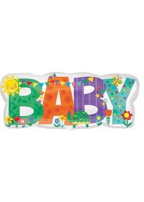 "****Baby Banner Icon 33"" Mylar Balloon"