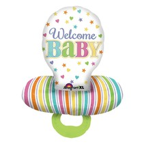 "***Baby Brights Pacifier 29""x22"" Mylar Balloon"