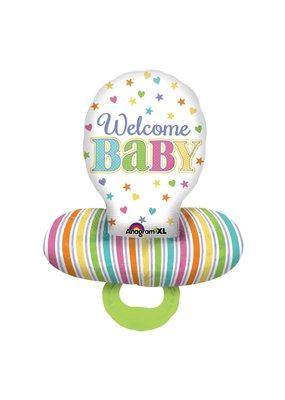 "***Baby Brights Pacifier 29""x22"" Mylar Balloon"