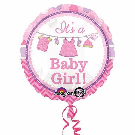 "***Shower with Love Girl 18"" Mylar Balloon"
