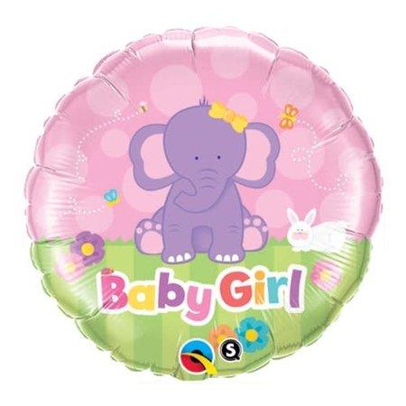 """***Baby Girl Elephant 18"""" Mylar Balloon"""