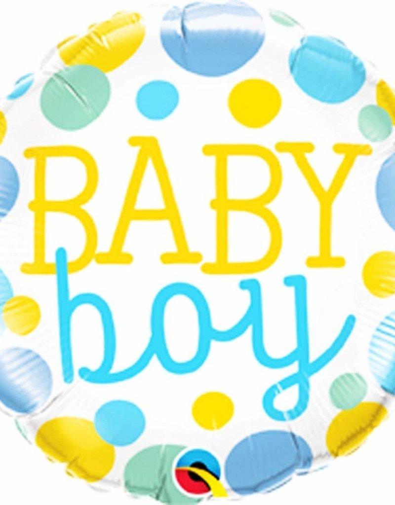 """***Baby Boy Dots 18"""" Mylar Balloon"""