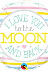 """***Love You to the Moon & Back 18"""" Mylar Balloon"""