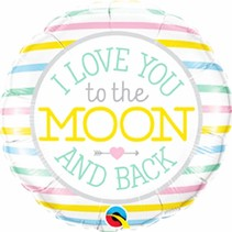 "***Love You to the Moon & Back 18"" Mylar Balloon"