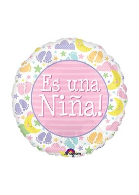 """***Es Una Nina It's Girl 18"""" Mylar Balloon"""