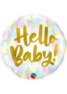 """***Hello Baby 18"""" Mylar Balloon"""