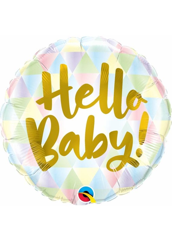 "***Hello Baby 18"" Mylar Balloon"