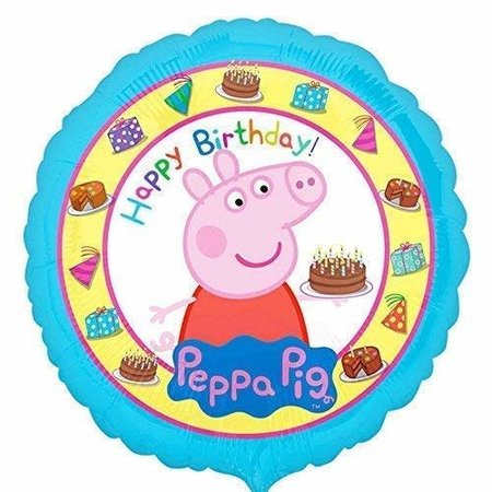 "***Peppa Pig Happy Birthday 17"" Mylar Balloon"