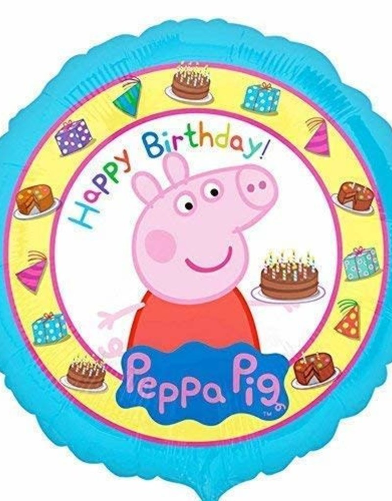 "***Peppa Pig Happy Birthday 17"" Mylar Balloon"