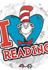 "***Dr. Seuss Hats Off to Reading 18"" Mylar Balloon"