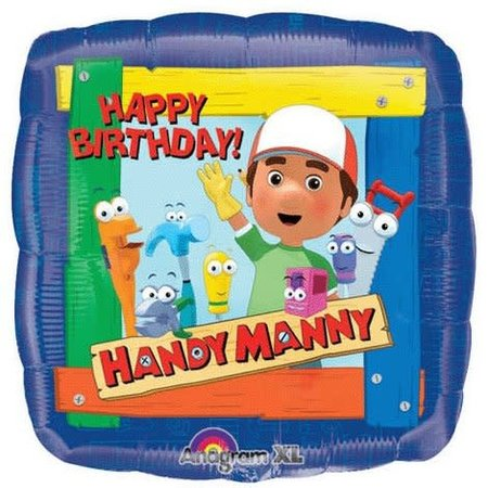 ***Handy Manny Birthday Square Mylar Balloon
