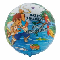 "***Diego Birthday 18"" Mylar Balloon"