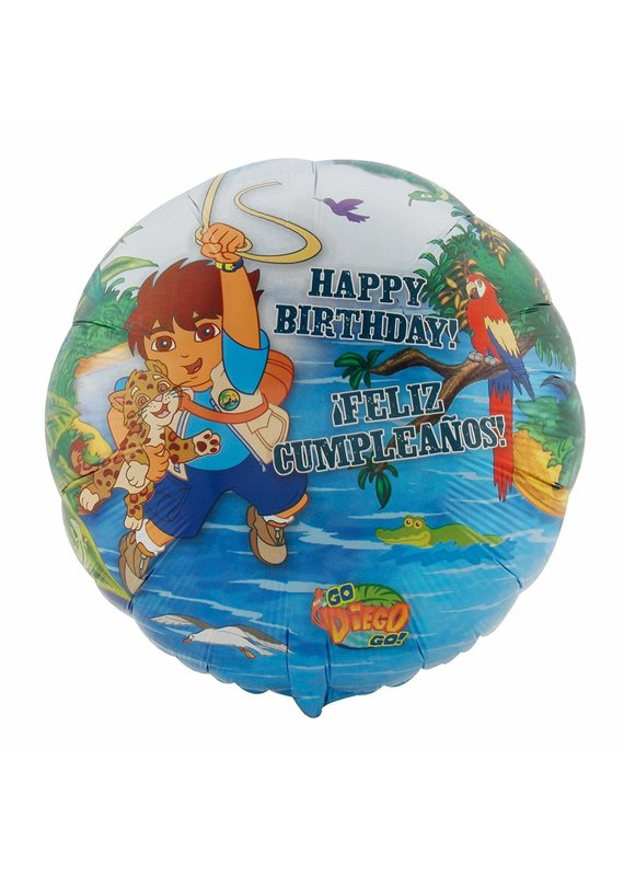 "M&D industries ****Diego Birthday 18"" Mylar Balloon"