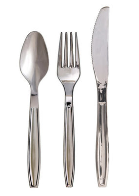 ***Chrome Plastic Asst Cutlery