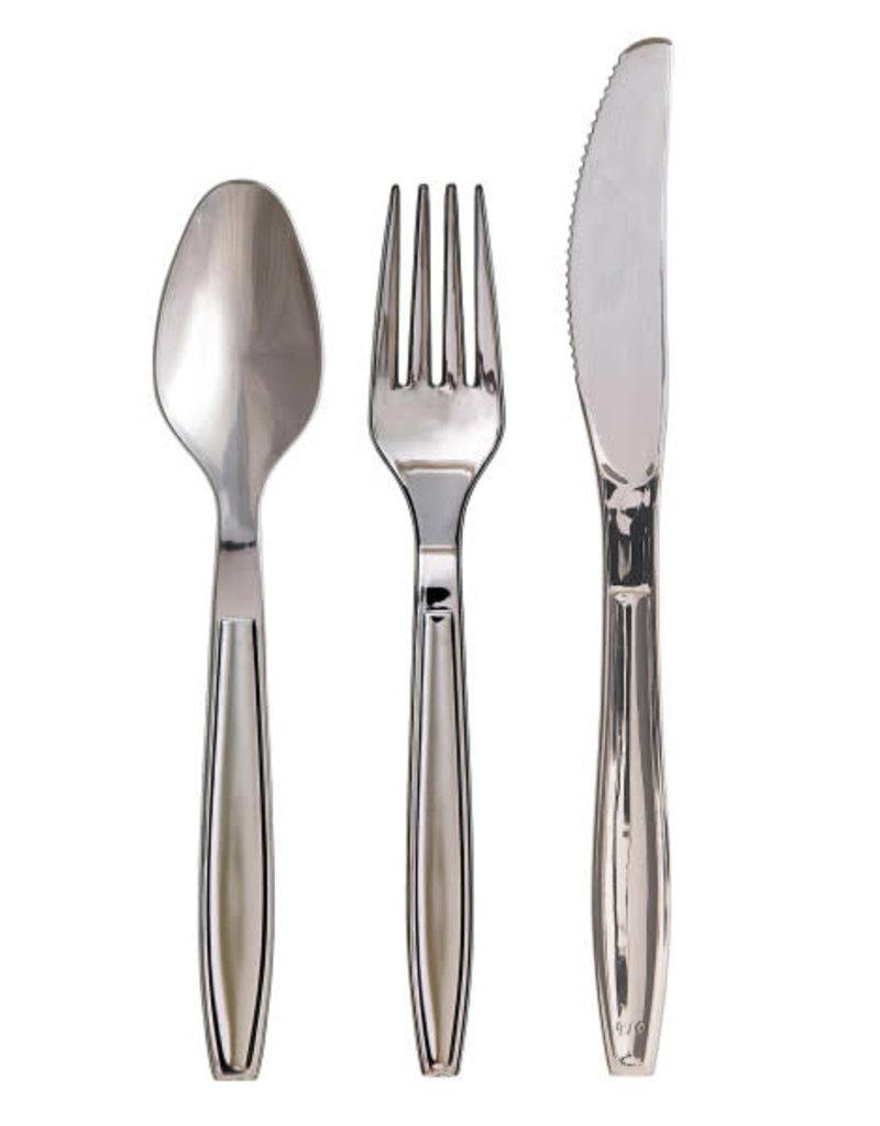 ***Chrome Plastic Asst Cutlery